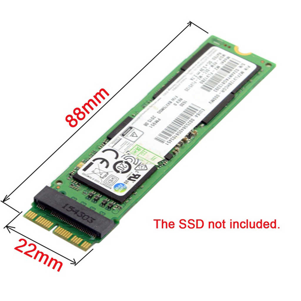 NEW Add On Cards NVMe PCIe M.2 M Key SSD Adapter Card for Macbook Air 2013 2014 2015 Expansion Card For Macbook Pro Retina A1398