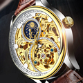 Tevise, автоматические часы для мужчин, механические часы, полый скелет, с автоматическим заводом, мужские роскошные Брендовые спортивные нару...