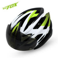 Fashion Bicycle Helmet Mountain Ultra light Bike Helmets With LED Goggles Lens Pins PC BAT FOX Cycling Helmet Capacete Ciclismo