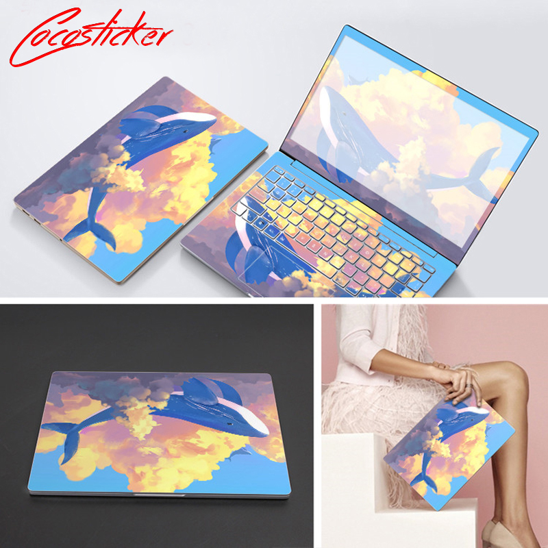 Laptop Stickers Skin For Samsung Series Model Full Cover Vinyl Notebook Free Cutting Skin ABC Sides+Keys+Key Interstice Sticker
