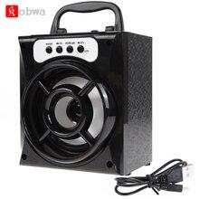 Mini Portable Wireless Bluetooth Speaker Bass Powerful Subwoofer Outdoor Music Box FM Radio LED USB TF Card Music Player