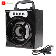 Mini Portable Wireless Bluetooth Speaker Bass Powerful Subwoofer Outdoor Music Box FM Radio LED USB TF Card Music Player