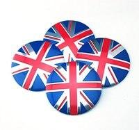 4pcs 56 5mm Emblem Badge Sticker Wheel Hub Caps Center Cover Flag UK BRITISH For MINI