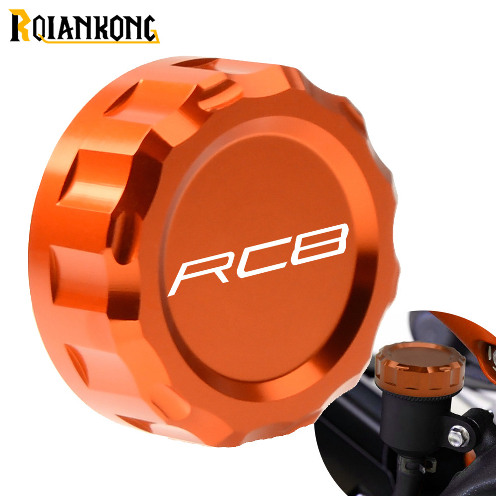 CNC Aluminum Motorcycle Accessories Rear Brake Fluid Reservoir Cover Caps Cylinder Reservoir Cover for KTM RC8 2009 2016 2015 in Covers Ornamental Mouldings from Automobiles Motorcycles