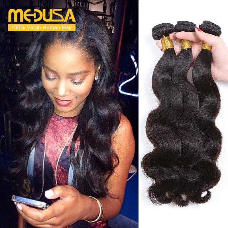 Medusa Hair Products 8a Indian Virgin Hair Body Wave100 Human Hair