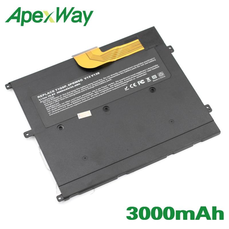 ApexWay 10.8V 3000mAh Li-polymer Laptop Battery 0NTG4J 0PRW6G  For DELL Vostro V13  V13Z  V130 V1300 0449TX PRW6G T1G6P