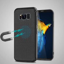 YiKELO Ultra-thin Black Magnetic Case for Samsung S8 Plus A3 A5 A7 J3 J5 J7 2017 Cases Soft TPU Cover Magnet Car Phone Holder