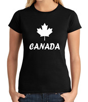 Canadian Symbol JUNIOR S T Shirt Maple Leaf Forever GIRL S Tee 1558C