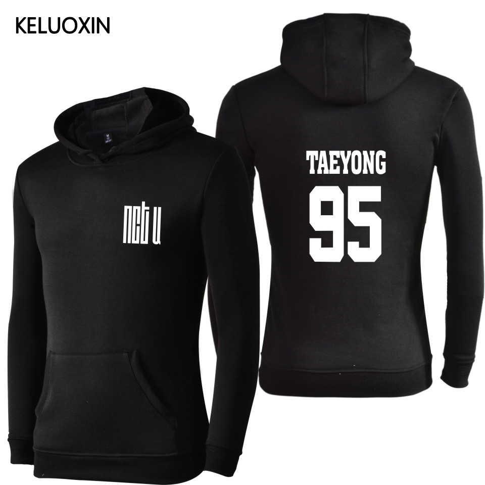 KELUOXIN Kpop NCT U اسم العضو طباعة هوديس K-POP مجموعة المعبود ألبوم الصوف عادية رياضية طويلة الأكمام البلوز البلوز