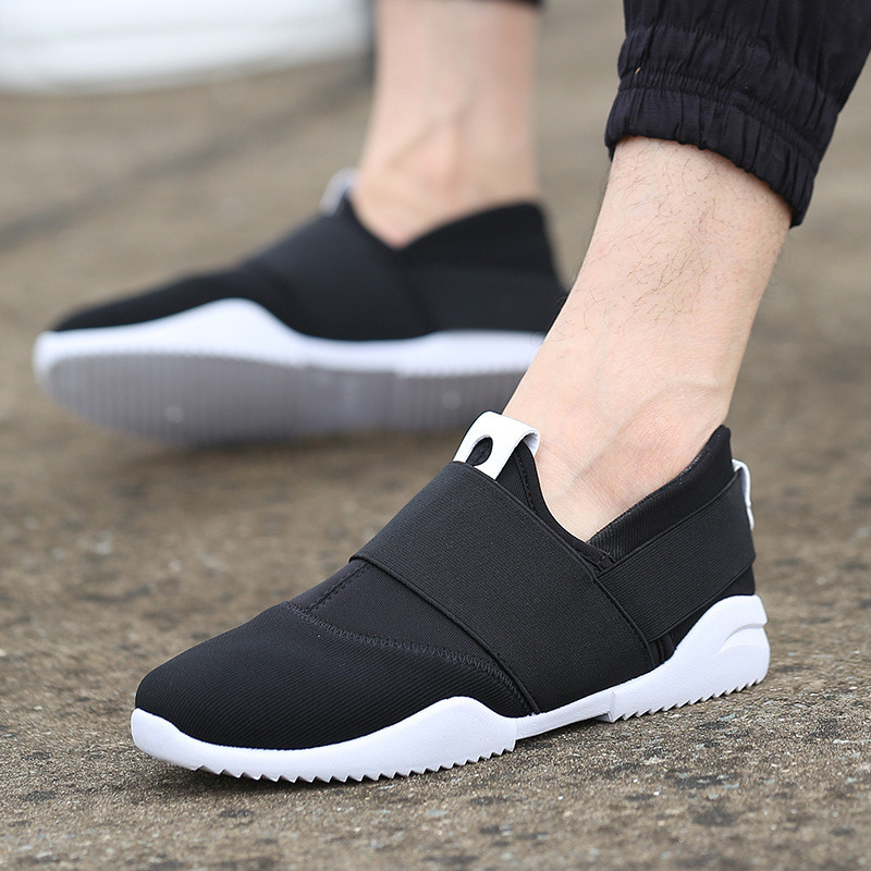 Men Casual Shoes Canvas Flats Size 39-44 Summer Comfortable Fashion Patchwork Men Shoes Flat Slip On Elastic Plimsolls Driving постер с изображением ребёнка jing jing bb