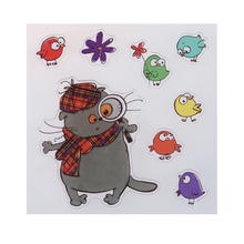 Colorful Cartoon Cat fairy Clear Silicon Stamp Scrapbook DIY Photo Album Diary Decorative Silicone Stamps Seal Paper Craft