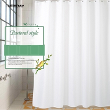 UFRIDAY High Quality White Shower Curtains Modern Bath Curtain Shower Bathroom Curtain Waterproof Bath Screen Hotel Home Decor ufriday waterproof shower curtains transparent floral shower curtain peva plastic bathroom curtain white flower bath curtain