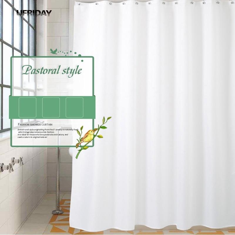 UFRIDAY Hohe Qualität Weiße Dusche Vorhänge Modernes Bad Duschvorhang Bad  Vorhang Wasserdicht Bad Bildschirm Hotel Wohnkultur