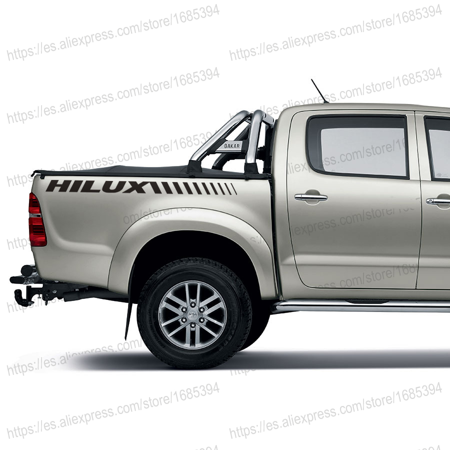 2 PC free shipping REAR STICKER HILUX FOR TOYOTA HILUX VIGO REVO 2 pc hilux hilux chequered racing side stripe graphic vinyl sticker for toyota hilux decals