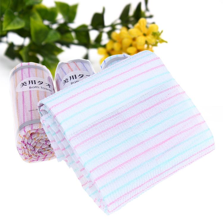 Korean Washcloths: Korean Bath Towel Exfoliating Long Viscose Bath Back Scrub