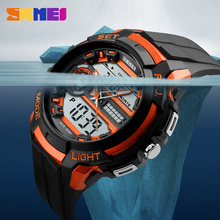 SKMEI Running Sports Watches LED Multiple Time Zone 50M Waterproof Shock Military Watch  Alarm Quartz Wristwatches 1202