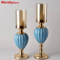 Decorative vase Candle Holders Vase stand Romantic Candlelight Dinner Candlestick Light Home For Wedding Decoration Centerpiece