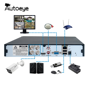 Image 2 - Autoeye 4CH 8CH 5MP Hybrid DVR 1 IN 5 CCTV DVR Support 5MP AHD Camera P2P Audio Input XMEye