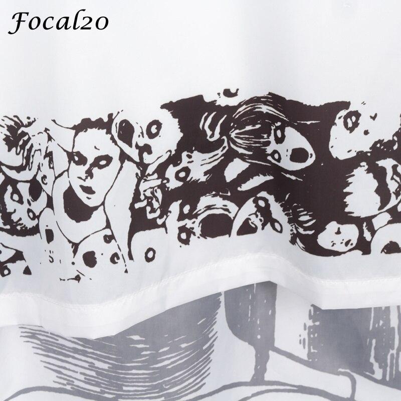 Focal20 Streetwear Junji Itou Manga Print Oversize Women Hooded Jacket Anime Hoodie Pullover Jacket Coat Outwear Streetwear 3