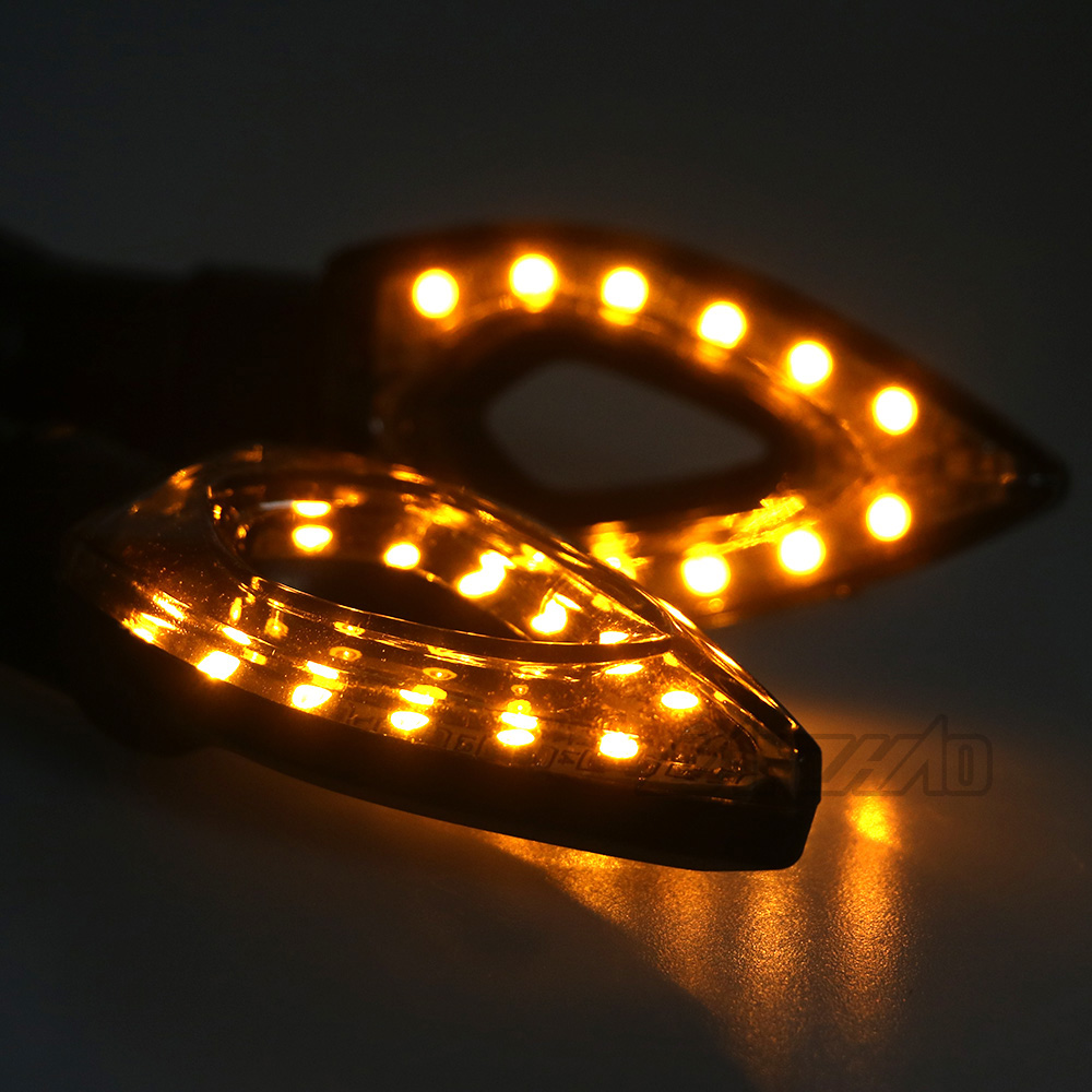 Motorcycle Motorbike Turn Signal LED Blinker 10mm Amber Light Universal Kit US