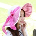 Kesebi 2017 Новый Горячий Мода Весна Лето Женщин Корейской Пляж шляпа Лук Вс Шляпы Женский Точка Вязание Полосатый Классические Случайные шляпа