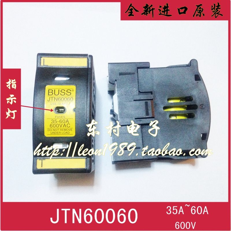 [SA]United States BUSSMANN fuse holder JT60060 600V JTN 60060 35A ~ 60A fuse holder [sa]united states bussmann fuse holder j 60200 3cr j 60200 2cr 600v 200a fuse