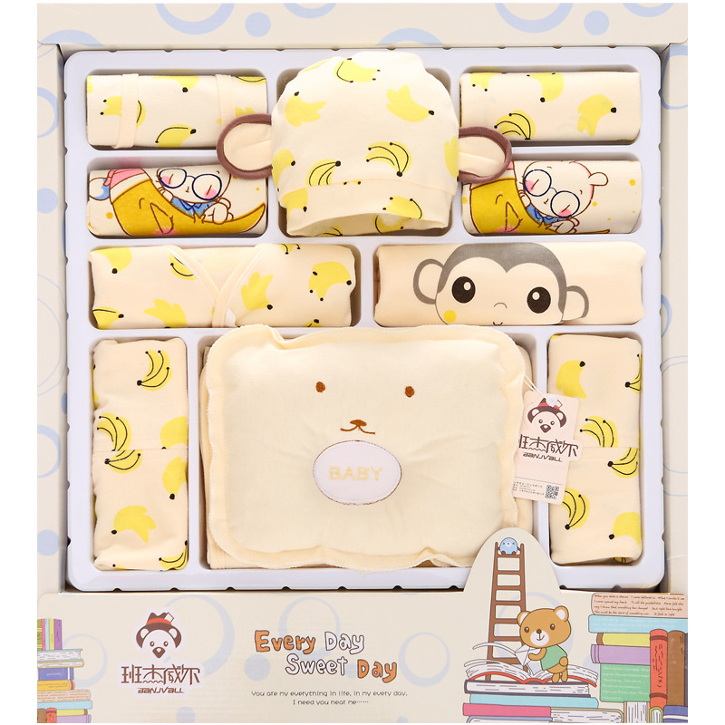 100 cotton newborn gift box 18pcs sets baby clothes Spring and Summer warm set newborn baby set for 0 3 month baby in Clothing Sets from Mother Kids