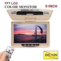 Audew 9 Inch TFT LCD Digital Screen Car Roof Monitor with Remote Controller Ceiling Mount Flip Down DVD Player IR Transmitter