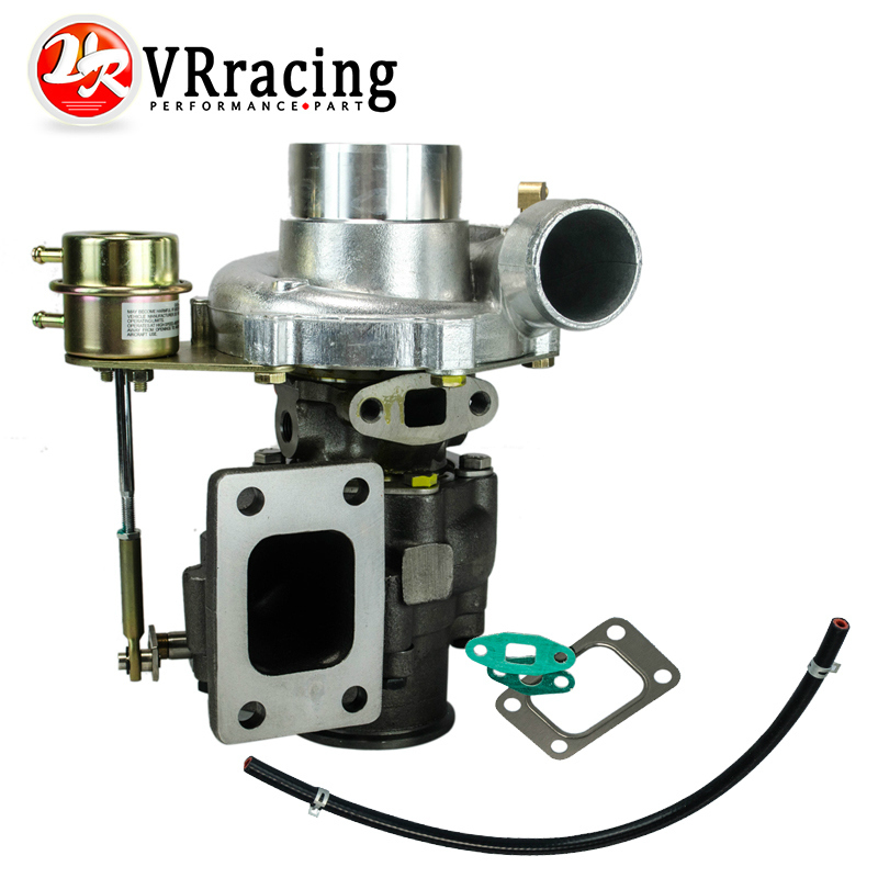 VR RACING TURBOCHARGER T3 T4 INTERNAL WASTEGATE A R 60 cold 63 hot t3 flange V