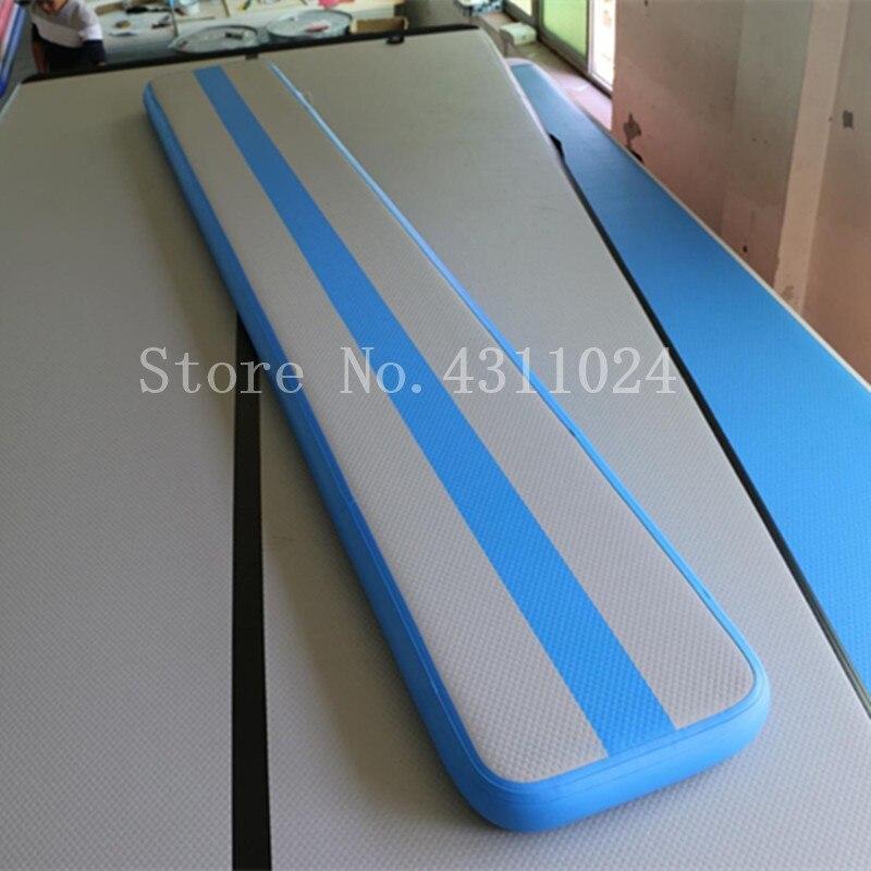 Nouveau Cool 3 m gonflable Air Balance faisceau gonflable dégringolade pistes gris Surface bleu côté Air gymnastique équipement tapis avec pompe