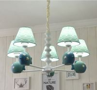 Nordic pastoral fish children's chandelier simple European lamps and lanterns boys and girls children's room bedroom chandelier