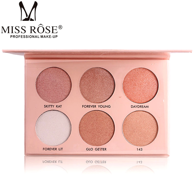 Miss Rose Ultimate Glow Face GlowKit highlighter Powder contour kit Palettte Face Highlighter Powder Bronzer Highlighter