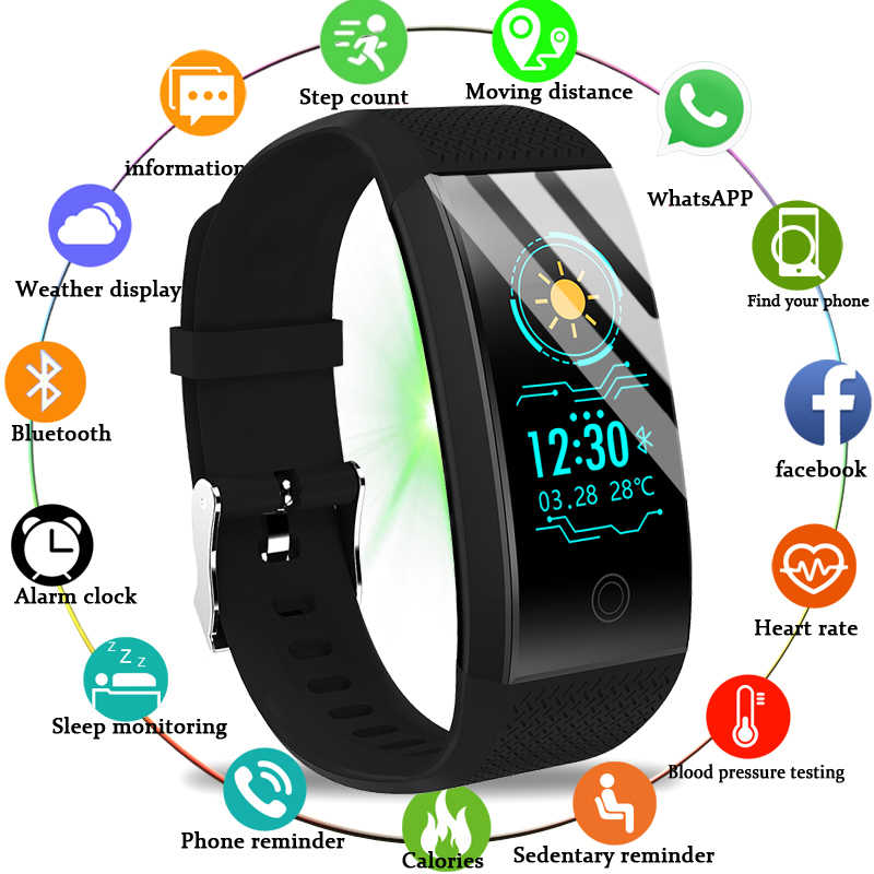LIGE 2019 New Men Smar watch Blood pressure heart rate monitor basketball Fitness Tracker Sport Smart bracelet Reloj inteligente