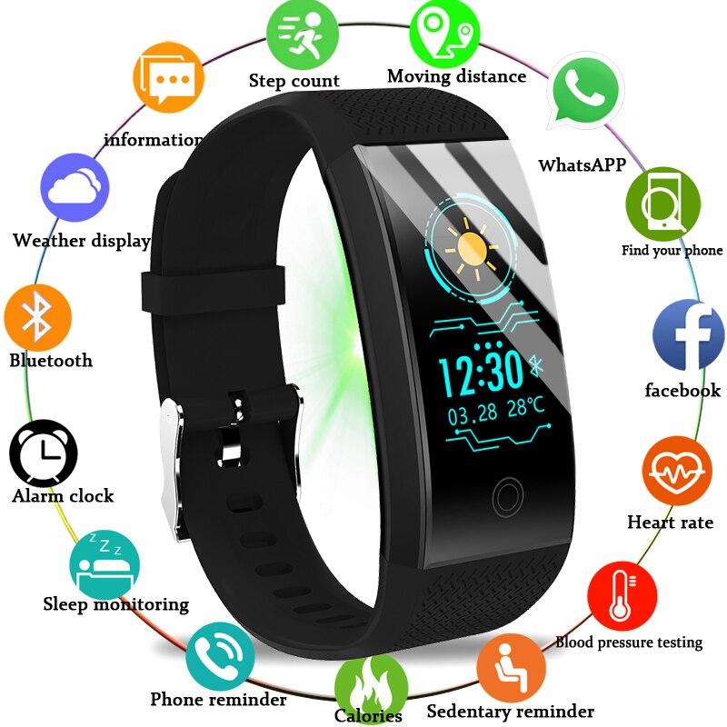 Men's Watches Watches Bangwei 2018 New Men Smar Watch Blood Pressure Heart Rate Monitor Basketball Fitness Tracker Smart Sport Watch Reloj Inteligente