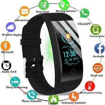 LIGE 2019 nuevo Reloj Smar para hombre, monitor de ritmo cardíaco de presión arterial, rastreador de actividad física de baloncesto, pulsera deportiva inteligente