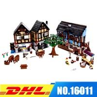 DHL Fit For 10193 LEPIN 16011 1601Pcs Castle Series The Medieval Manor Castle Model Building Kits