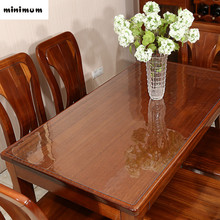 High quality 2MM Thicker PVC Transparent crystal plate Table mats Soft glass waterproof dining table cloth coffee pads