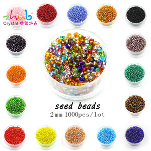 Hot Mixed Colors 1000pcs 2mm Czech Glass Seed Beads Spacer Crystal Beads Charms Loose Lampwork Glass Beads Jewelry Making DIY