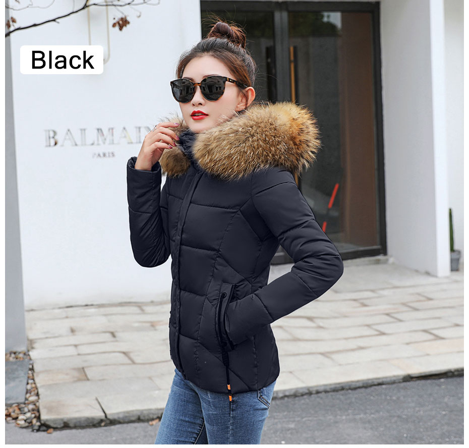 HTB1wHSylsj B1NjSZFHq6yDWpXaJ 2019 Winter Jacket women Plus Size Womens Parkas Thicken Outerwear solid hooded Coats Short Female Slim Cotton padded basic tops