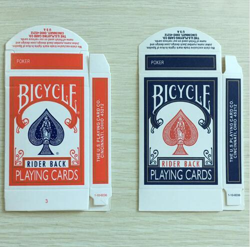 50pcs/lot Original Bicycle Card Box Red or Blue Available Close Up Magic Accessory Card Magic Trick Only for Magician стоимость