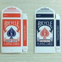 50pcs/lot Original Bicycle Card Box Red or Blue Available Close Up Magic Accessory Card Magic Trick Only for Magician