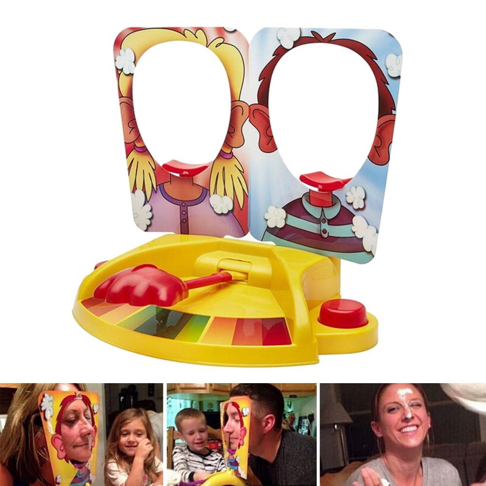 עוגה בפנים מלם צעצוע עוגת קרם משפחה - צעצועים הומוריסטיים