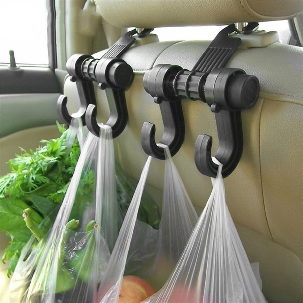 Portable Car Seat Back Storage Hook Sundries Hanger Bag Holder Universal Multifunction car hook Fastener & Clip Баллон для дайвинга