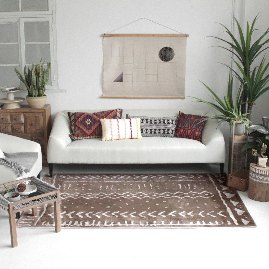 Nordic stil wohnzimmer blue Carpet geometrische Indische Teppich ...