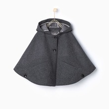 Eveerweekend Вязаный шерстяной свитер blend Hoodie накидки пончо Серый цвет рукав «летучая мышь» Карманы Осень модные куртки верхняя одежда