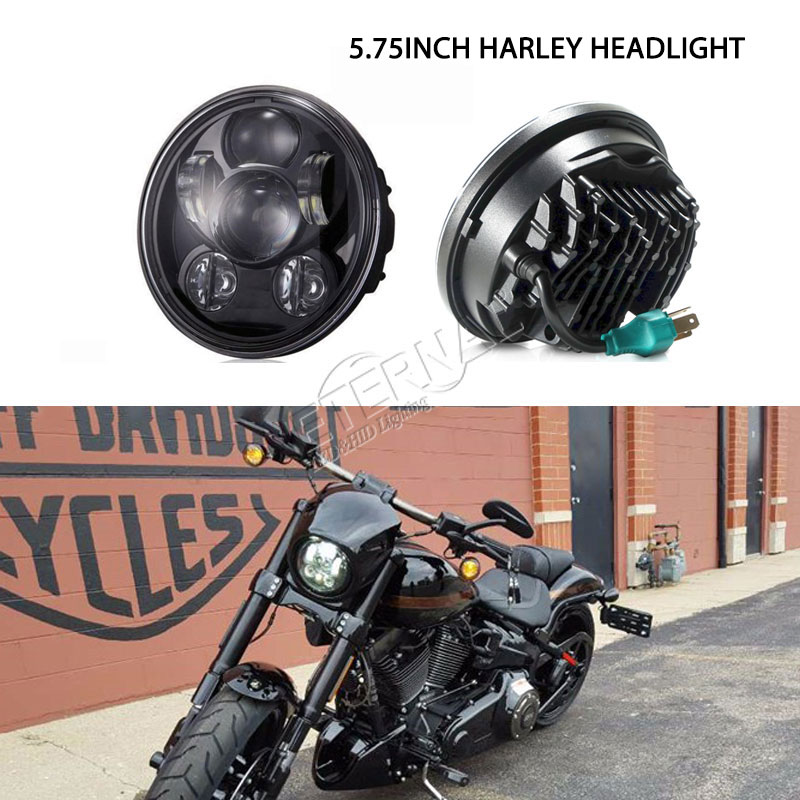 free shipping 5 3/4inch  60W motorcle headlight+2pcs 4.5inch 30W motorcycle LED fog lights for Harley Davidsion motorcycle FLD 5 3 4 led headlight for triumph rocket iii 3