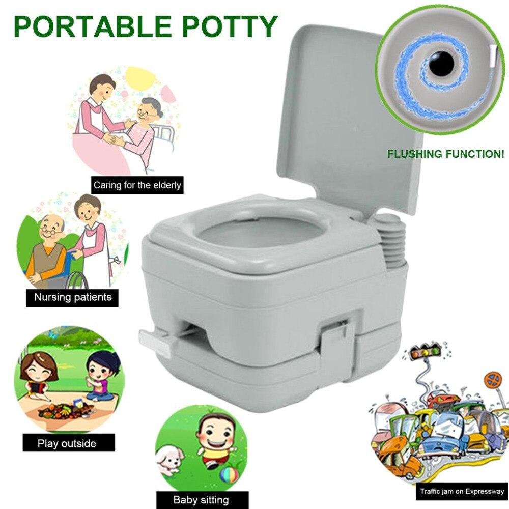 10L Carré de Rinçage Potty Portable Toilettes Chimiques Loo Camping En Plein Air Voyage Camping Toilettes Mobile Toilettes D'urgence Approprié