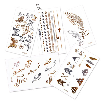 2017 21 X 15 CM Wet Set Mix Fox and Feather Cool Beauty Tattoo Waterproof Hot Temporary Tattoo Stickers