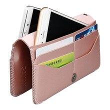Haute qualité en cuir téléphone sac femmes mode petit sac hommes téléphone sac étui pour iphone 5.5 pouces hommes Clunth sac femmes portefeuille rose