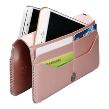 High Quality Leather Phone Bag Women Fashion Small Bag Men Phone Bag Case for IPhone 5.5inch Mens Clunth Bag Women Wallet Pink
